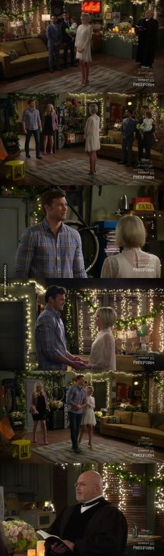 Bonnie: Oh, honey, well, why don't we just go inside and talk about it? Danny: What is all this? Riley: It's our wedding. I've been putting this off for all of the wrong reasons when I should have been focused on the one right reason that I wanna spend the rest of my life with you. So what do you say? Will you marry me? Danny: You sure? Riley: I've never been more sure about anything. Danny: Shall we? Priest: Dearly beloved, we are gathered here today to celebrate the marriage of Danny and…