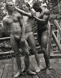 NYC Ballet Dancers, Camp Longwood, Adirondacks, New York, 1995 (by Bruce Weber)