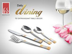 Experience the Elegance of Opulent Cutlery. #cutlery #finedine #tabledecor  #gifts