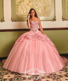 The Quinceanera Collection offers elegant quinceanera dresses,ragazza fashion and vestidos de quinceanera! These pretty quince dresses are perfect for your party! Pretty Quinceanera Dresses, Prom Dresses, Wedding Dresses, Quinceanera Party, The Dress, Pink Dress, Mode Baroque, Quinceanera Collection, Sweet 15 Dresses