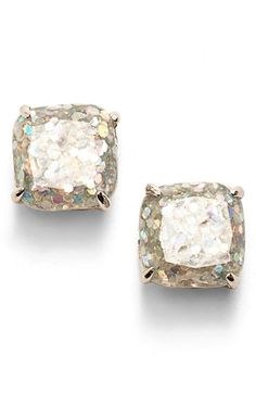 Free shipping and returns on kate spade new york mini small square stud earrings at Nordstrom.com. Sparkling glitter flurries are frozen in the polished epoxy jewels of versatile stud earrings that frame the face in subtle shine.