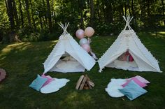 Tents at a Glamping Party #glamping #partytents