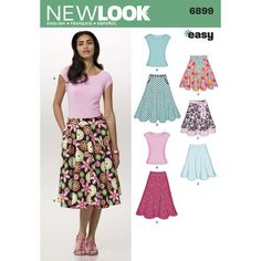 16-18-20-22-24 Simplicity Sewing Pattern 2655 Misses Skirts U5