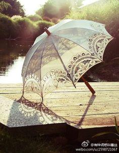 Victorian umbrella.