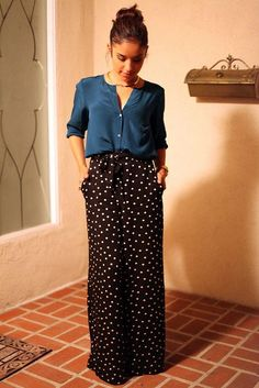 Could work with hard-to-style pinstripe trousers Only Fashion, Work Fashion, Hijab Fashion, Fashion Looks, Fashion Outfits, Fashion Fashion, Maxi Outfits, Modest Outfits, Casual Outfits