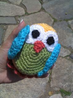 Baby Morepork Owl ~ perfect for little hands! Completely crochet and safe for babies and children of all ages. Check it out on fb