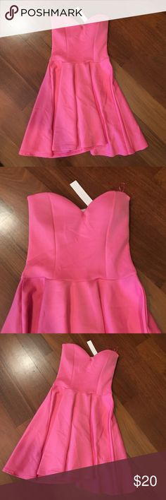 NEW! Pink Skater Dress Brand new! Pink Skater Dress. Fits size small/medium  Dresses