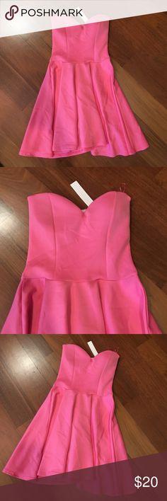 NEW! Pink Skater Dress Brand new! Pink Skater Dress. Fits size small/medium  Dresses