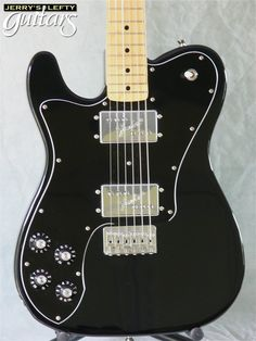 Fender Japanese Left Handed Deluxe Telecaster. Very rare, supposedly only a few of these were ever made.