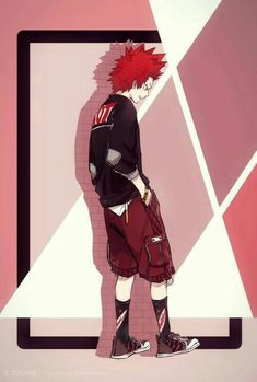 *He posed for the photoshoot he currently was at, wondering when it would end*. Boku No Hero Academia, Kirishima My Hero Academia, My Hero Academia Manga, My Hero Academia Memes, Me Me Me Anime, Anime Love, Anime Guys, Kirishima Eijirou, Hero Academia Characters