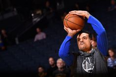 Matt Barnes of the Golden State Warriors warms up before the game against the Boston Celtics on March 8 2017 at ORACLE Arena in Oakland California...