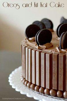 Oreo and Kit Kat cake