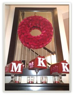 Valentine's Day Mailbox  Add initial to front of each mailbox.