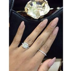 Nude nails and diamonds