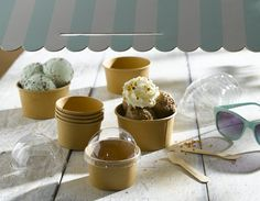 Packnwood UK - Small Kraft cup  Perfect for desserts and ice cream.