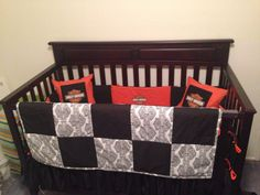 Custom Made Harley Davidson Crib Bedding For My Son I Love It