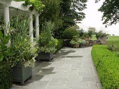 pergola and bluestone terrace