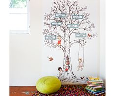 Family Tree Wall Decals! These oversize, reusable, eco-friendly wall decals are made by Pop and Lolli. For EVERY decal purchased, a large portion of the sales goes towards Acres of Love. Acres of Love offers an incredible model for no orphanages, but instead FOREVER HOMES.