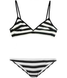 Horizontal-stripe bikini