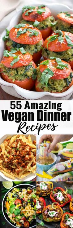 If you're looking for delicious vegan recipes this roundup is perfect for you! It includes some of the most popular vegan dinner recipes, vegan dessert recipes, and even some vegan breakfast recipes! <3