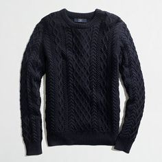 J.Crew Factory - Factory fisherman cable crewneck sweater