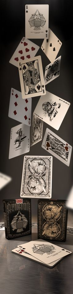 AVIATOR PLAYING CARDS (concept) by Abraham García, via Behance