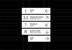Wayfinding system for Art-zavod Platforma on Behance