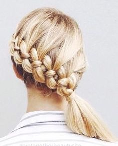 The Four-Strand Braid Made Easy-ish This four-strand braid tutorial will blow your mind. Unique Braids, Cool Braids, Beautiful Braids, Braids For Long Hair, French Braid Hairstyles, Braided Hairstyles, Hairstyles Haircuts, Four Strand Braids, Trending Hairstyles