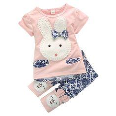 a1c7c93c3cdc 2Pcs Baby Kids Girls Top+Short Pants Summer Suits