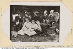 Sir Leslie Stephen, Lady Albutt, Vanessa Bell, Julia Duckworth Stephen, Virginia Woolf, Gerald Duckworth, Sir Clifford Albutt and Adrian Stephen at St. Ives in 1892