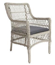 """""""Zahradní křeslo s hliníkovou konstrukcí a pletivem z umělé hmoty, vč. pohodlného polštáře v antracitové barvě."""""""