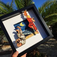Wall art for kids shadow box 52 ideas for 2019 Ken Street Fighter, Home Music, Shadow Box Art, Geek Decor, 3d Wall Art, Artwork Wall, Game Room Decor, Kids Artwork, Picture On Wood