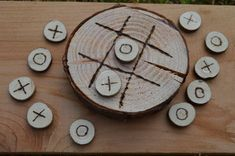 Rustic Wood Round Tic-Tac-Toe Sets  Ready To by JenMadeThatHat