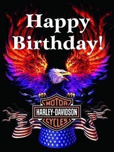 Happy Birthday Harley Davidson Eagle