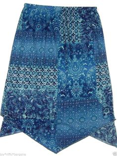 Amy Byer Girls Glitter Skirt Size 12-14 Blue Floral Church Party Easter