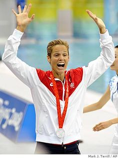 Dara Torres takes home the silver medal. #Fit4Life