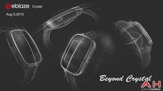 Zeblaze Crystal Smartwatch Sketches Surfaces