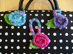 Fiber Flux...Adventures in Stitching: Free Knitting Pattern! Luggage Blossoms can be made with French Knitter