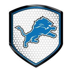 Detroit Lions NFL Shield Style Reflector