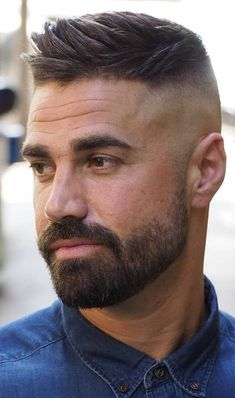 Side Swept Ivy League Haircut - Best Men's Hairstyles: Cool Haircuts For Men. Most Popular Short, Medium and Long Hairstyles For Guys Mens Hairstyles With Beard, Cool Hairstyles For Men, Cool Haircuts, Hairstyles Haircuts, Haircuts For Men, Male Short Hairstyles, Hairstyle Ideas, Barber Haircuts, Beard Styles For Men
