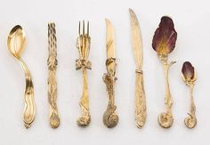 A cutlery set designed by Salvador Dali, 1957.