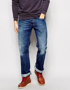 Shop man regular slim relaxed fit jean | Male trousers styling free advice | Curated daily outfits | Menswear looks | Denim style trend
