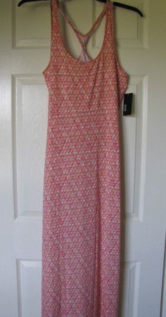 a.n.a. Sleeveless Maxi Dress in Peach Size Small Ret $60 NWT #ana #Maxi.  Great dress, swimsuit cover up, or even a sexy curve hugging nightgown.