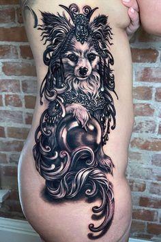 Tattoo by Ryan Ashley Marlarkey Ryan Ashley Tattoo, Black White Tattoos, Skin And Bones, Grey Dog, Dog Tattoos, Body Modifications, Get A Tattoo, Dog Portraits, Body Mods
