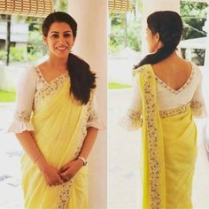 Pc Thunnal Designer Blouse Ideas DM for promotions and c Indian Ethnic Saree Jacket Designs, Saree Blouse Neck Designs, Simple Blouse Designs, Stylish Blouse Design, Bridal Blouse Designs, Latest Blouse Neck Designs, Indian Blouse Designs, Kurta Designs, V Neck Blouse