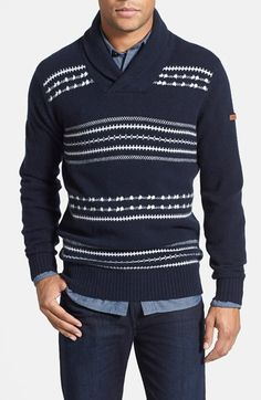 Fair Isle Shawl Collar Sweater | { gifts for him } | Pinterest ...