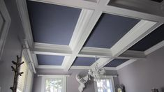 DIY site with instructions on how to do the coffered ceiling!!! So helpful.