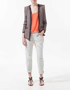 Love this Blazer and it's a piece that wont out-date itself. Multicoloured studded blazer $119 @ Zara