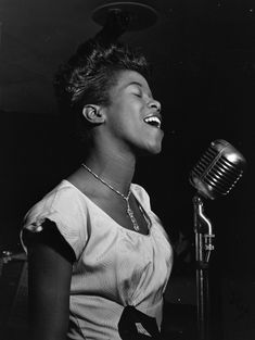 "Sarah Vaughan (1924-1990).   Had a four-octave contralto.  Faced racism for most of her life, especially on tour as few hotels or restaurants would serve her.  Tempted to quit, but persevered.    Nicknamed ""The Divine One"" because her performances were so moving."