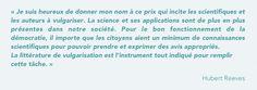 Prix Hubert-Reeves - Prix littéraire scientifique au Québec | ACS